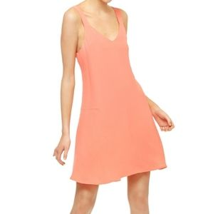 Sanctuary Coral Pink Harlow A-Line Dress Small